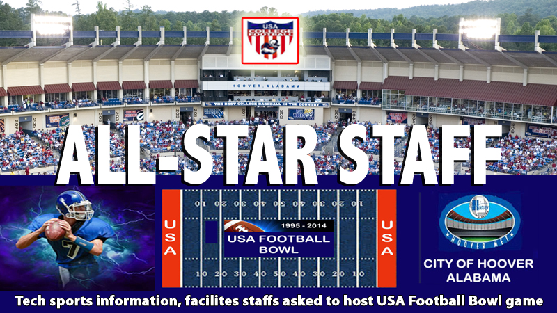 Tech sports information, game operations picked to staff USA Football Bowl