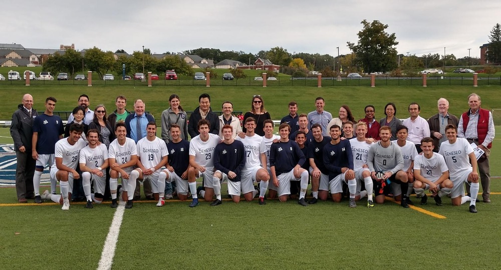 Geneseo Men's Soccer Faculty Recognition Ceremony, 2018