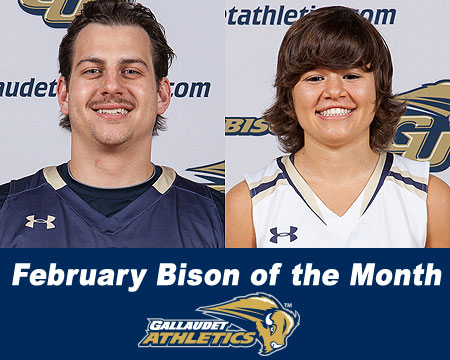 Danny Kelly, Claire Tucker named February Bison of the Month