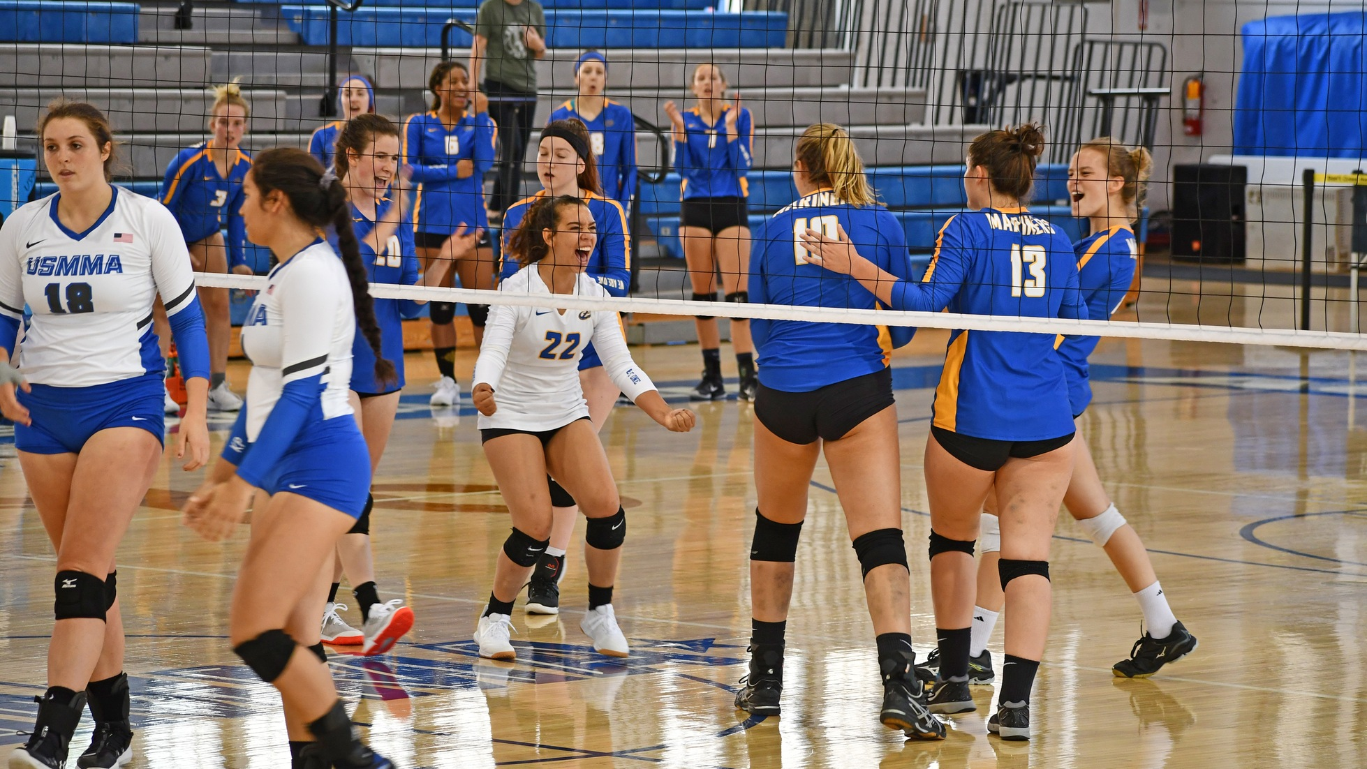 Volleyball Sweeps First Day of Maritime Classic