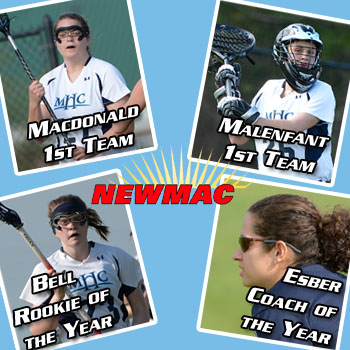Lacrosse Puts Five on All-Conference Teams; Bell Named Rookie of the Year; Esber the Coach of the Year