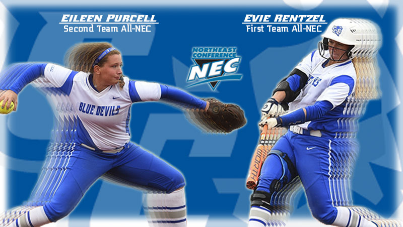 Rentzel, Purcell Named All-Northeast Conference