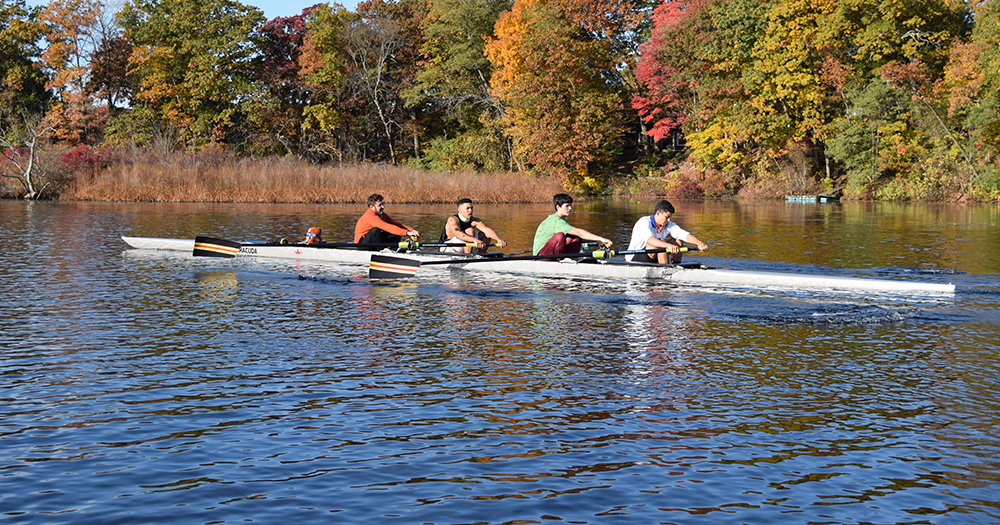 Varsity Four Takes First at Halloween Regatta