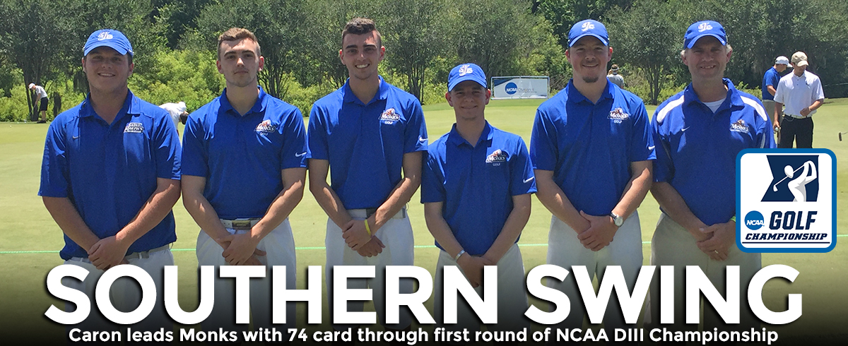 Caron Leads Monks with 74 Card on First Round of NCAA DIII Championship