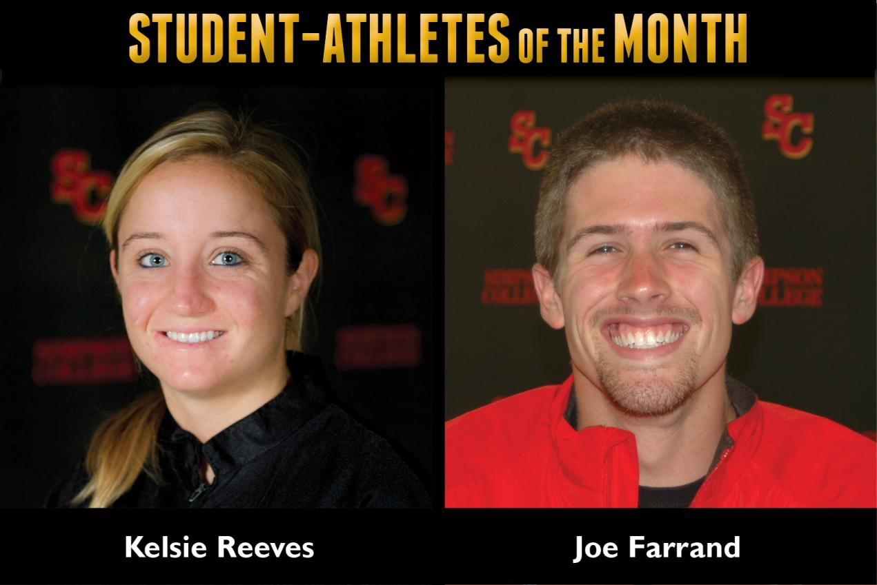 Reeves, Farrand named Student-Athletes of the Month