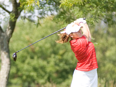 Ashley Swanson carded a team-best 157 score at the Grand Valley State Laker Classic in her second appearance of the 2010 fall season.  (Photo by Ed Hyde)
