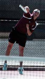 Cox Concludes Career with End of Men's Tennis Season