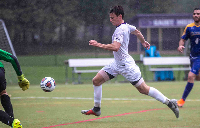 Men's Soccer Draws Southern Connecticut State, 1-1, to Open NE10 Play