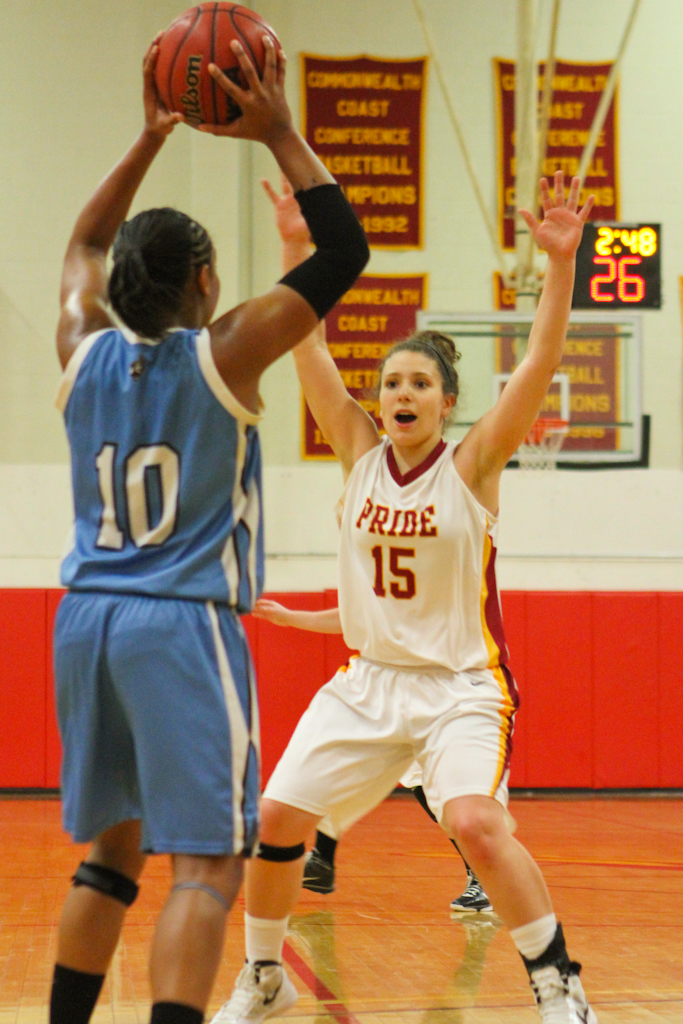 PRIDE REMAINS PERFECT IN NECC PLAY WITH 74-44 VICTORY OVER BAY PATH