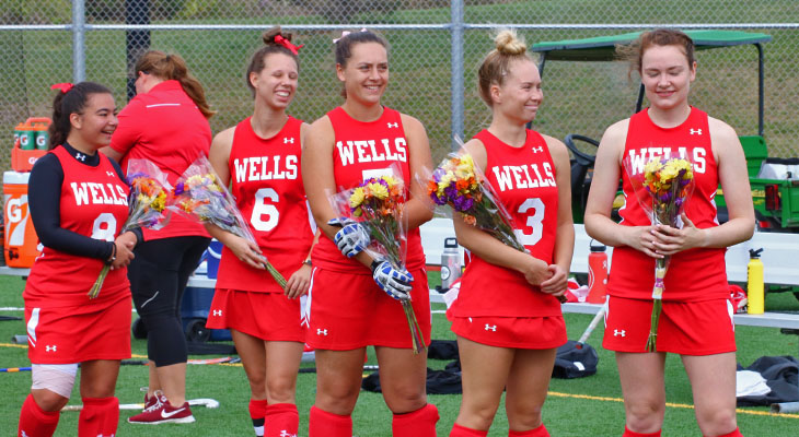 Five Wells Seniors Honored Prior to Mustangs' Game