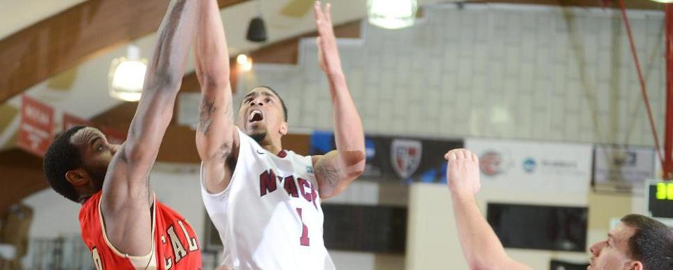 Men's Hoops Upset No. 2 Holy Family In CACC Action, 60-53