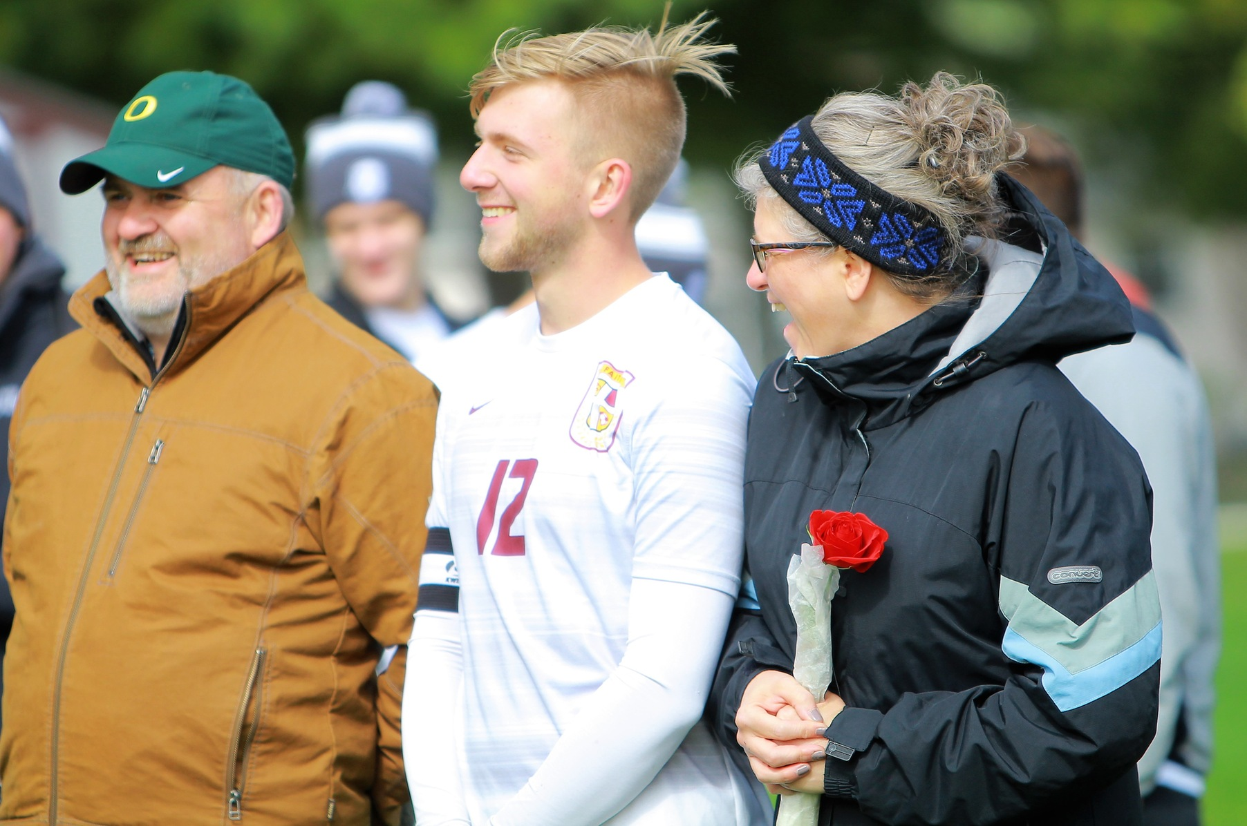 Faith honors its only senior men's soccer player, Caleb Sturgis, on Senior Day