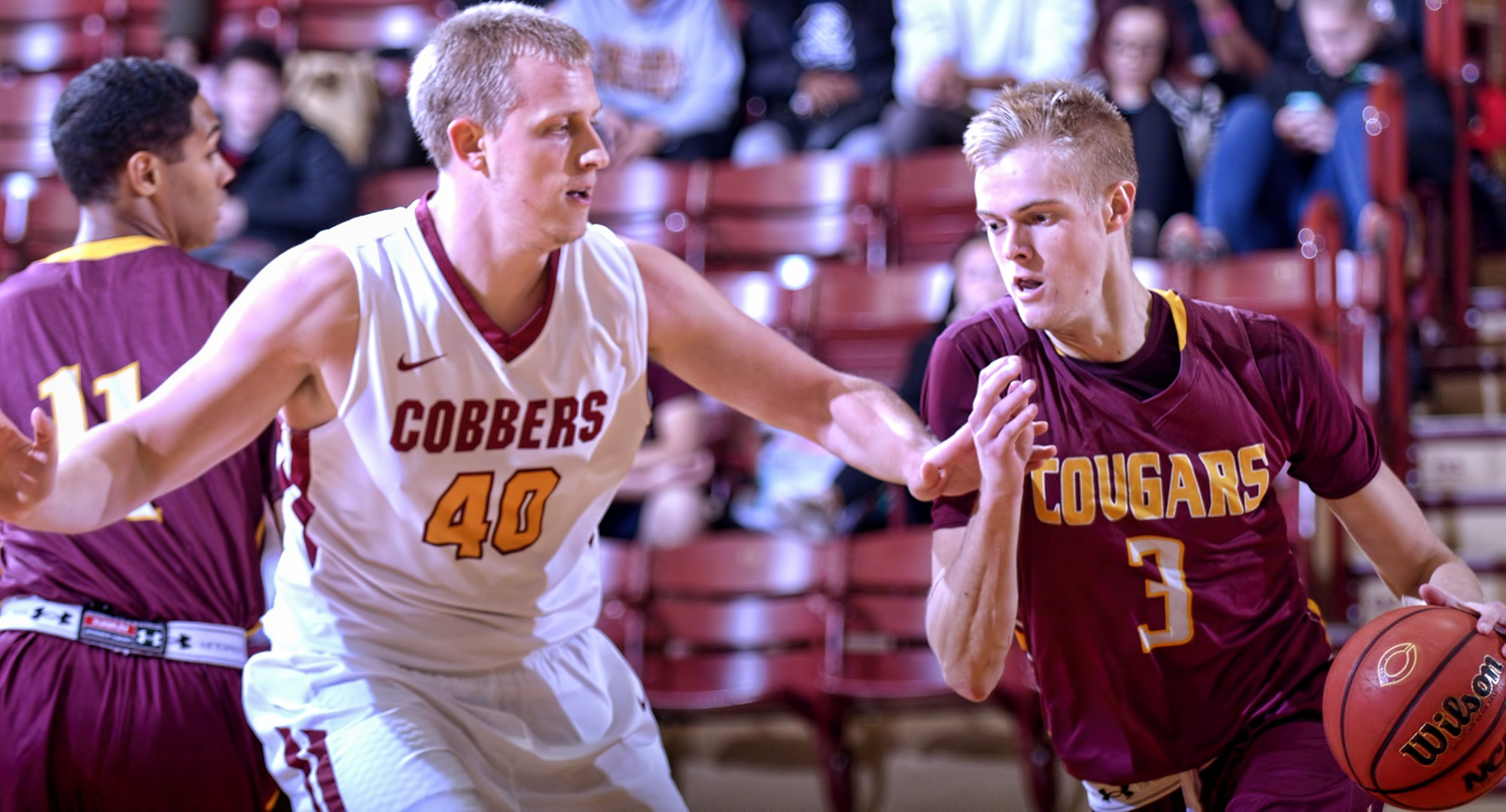 Concordia senior Austin Heins had career-high totals in points in rebounds as he helped the Cobbers' earn an 80-71 win over Minn.-Morris in the season opener.