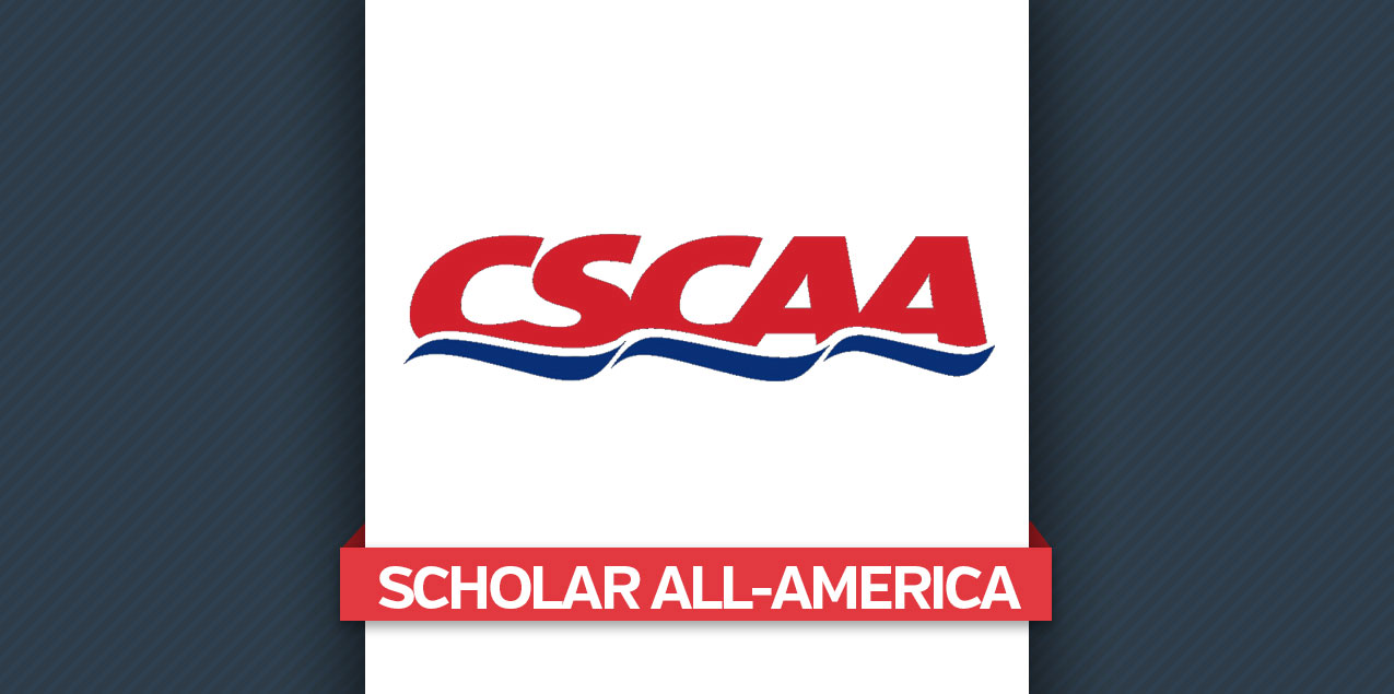 Five Women's, Three Men's Swimming & Diving Programs Earn CSCAA Scholar All-America Honors
