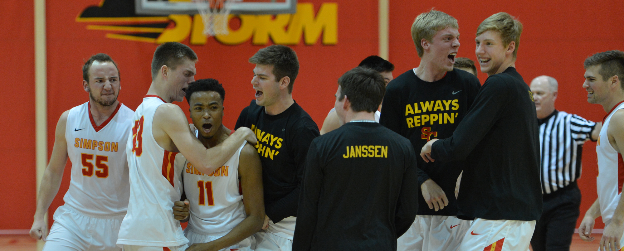 Simpson came back from 12 down to beat Central 64-63 on Wednesday.