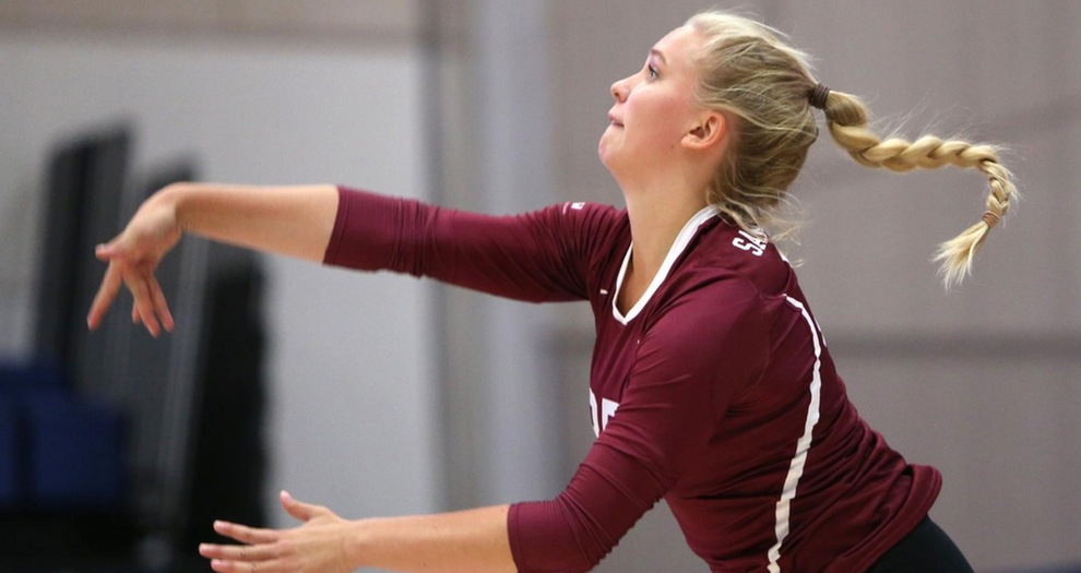 Michelle Gajdka led the Broncos in kills during each of the team's two matches on Saturday.
