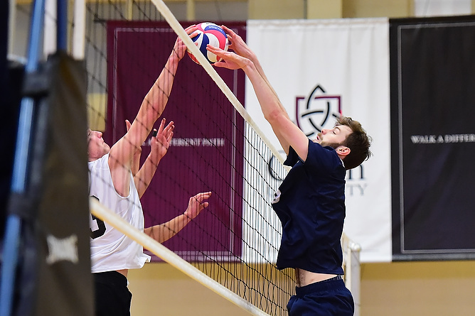 Behrend Men's Volleyball Downs Geneva, Hiram; Lions Set Record For Wins in a Season