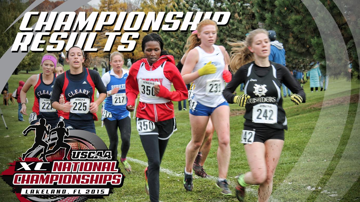 SUNY-ESF Men's and Women's Cross Country Places in Top 3 at USCAA National Championships