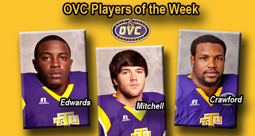 Edwards, Mitchell and Crawford voted OVC weekly honors