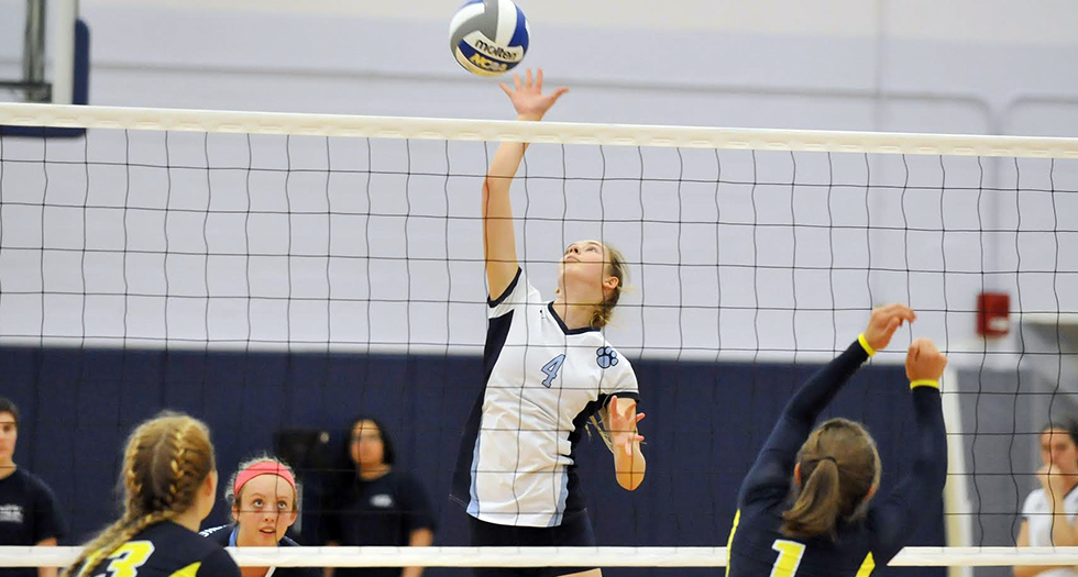Volleyball Falls at Coast Guard