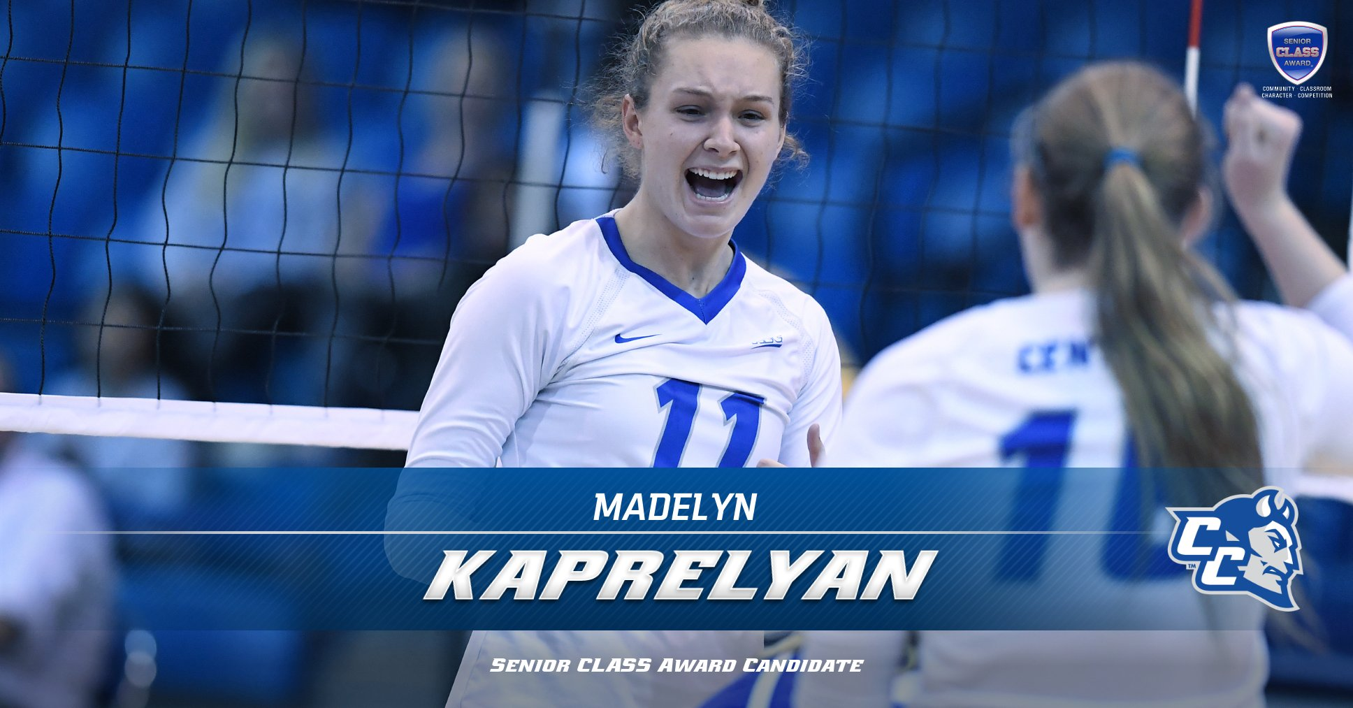 Volleyball's Kaprelyan Named Candidate for 2019 Senior CLASS Award