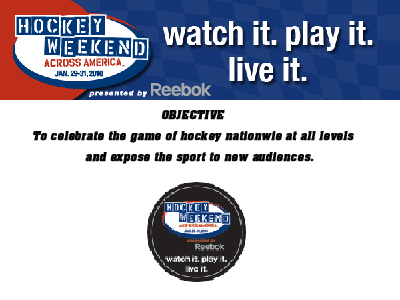 """Hockey Weekend Across America"" Scheduled For January 29-31"