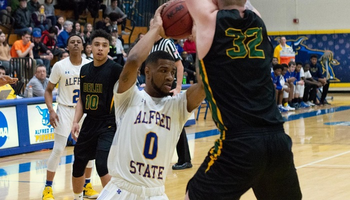 Taj Lewis battles underneath in ACAA Championship Game
