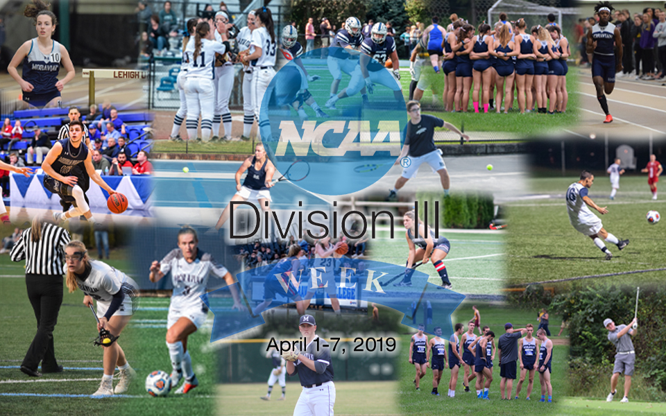 Moravian is participating in the 8th Annual NCAA Division III Week from April 1-7.