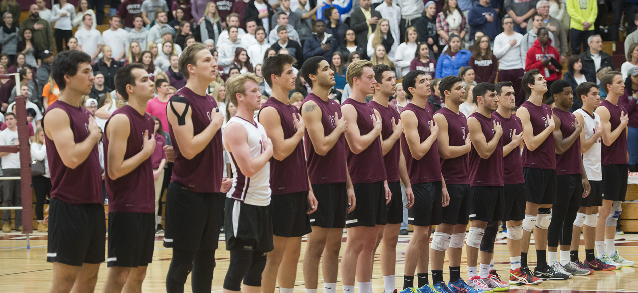 Top-Ranked Men's Volleyball Sweeps Endicott, Rallies Past Stevenson