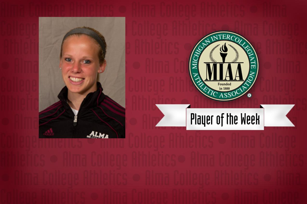 Mackenzie Smith named MIAA Women's Soccer Offensive Player of the Week