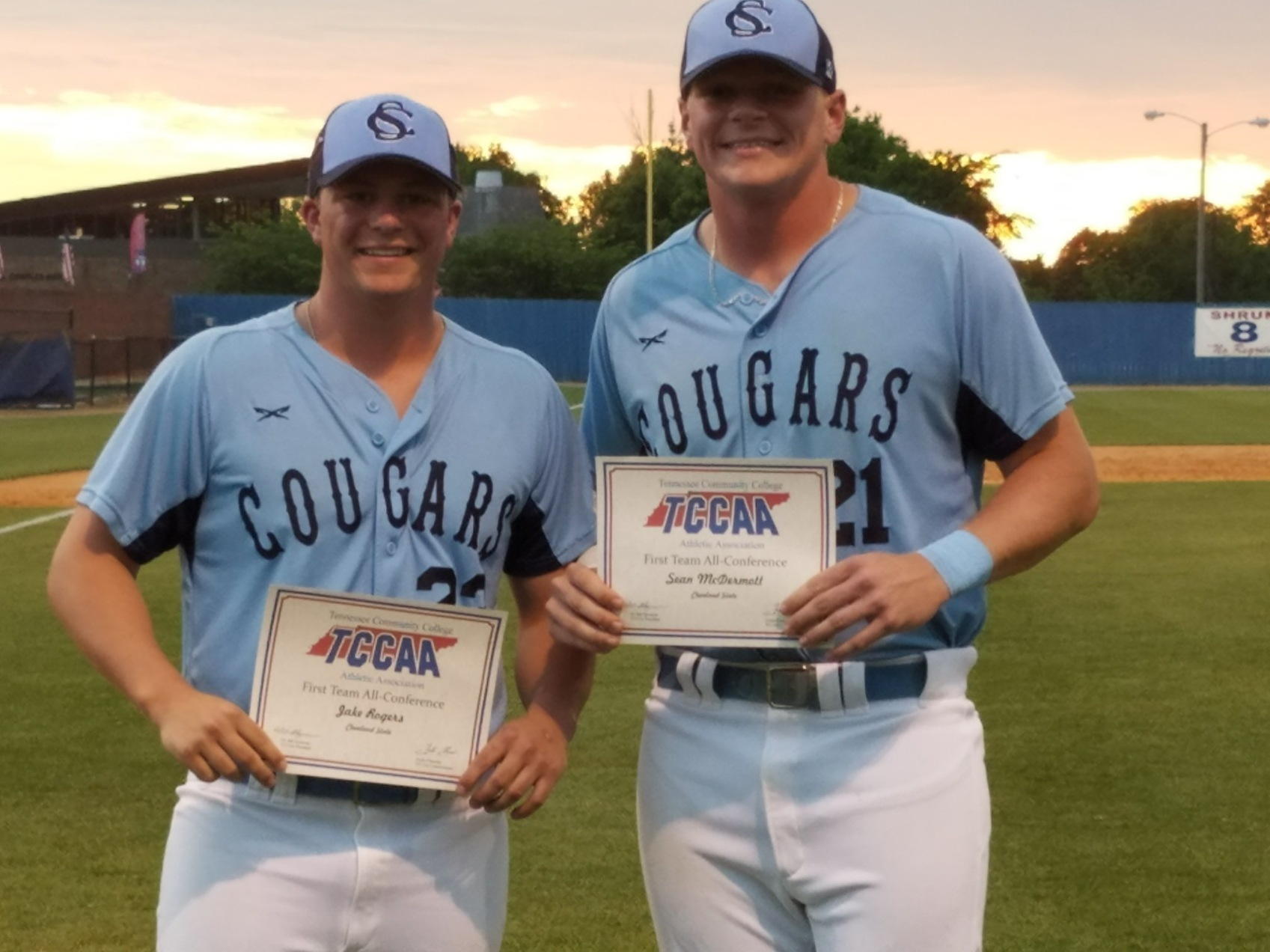 TWO COUGARS EARN FIRST TEAM ALL-CONFERENCE HONORS