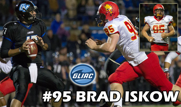 Brad Iskow Claims GLIAC Defensive Weekly Award