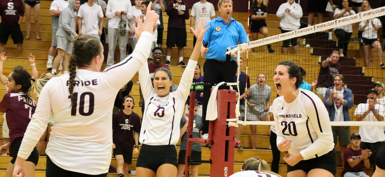 Women's Volleyball Takes Down No. 18 MIT, 3-1, To Open NEWMAC Play