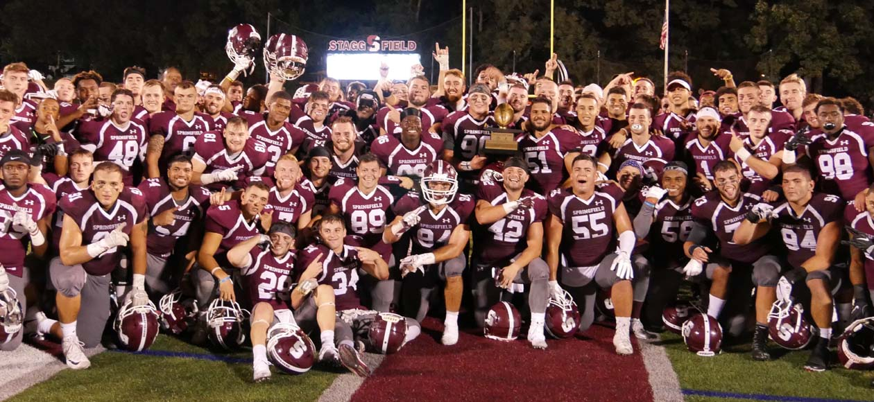 Football Storms Past Western New England, 42-21, To Capture Pynchon SAW Trophy