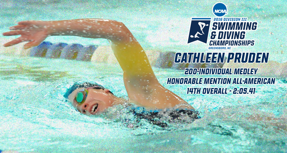 Pruden Earns Honorable Mention All-America; Finishes 14th in 200-IM