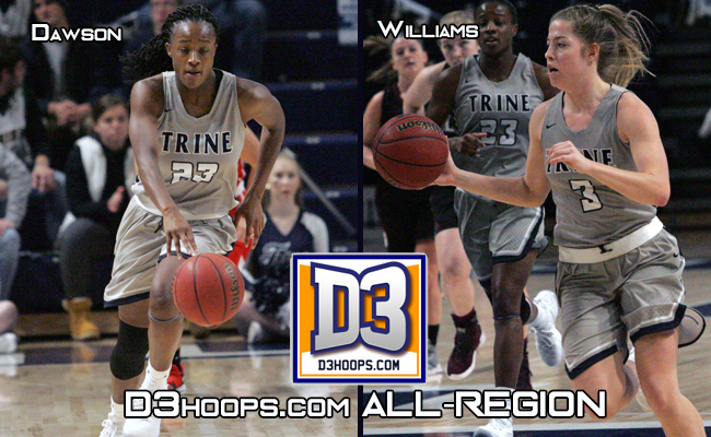 Dawson and Williams Named D3hoops.com All-Great Lakes Region