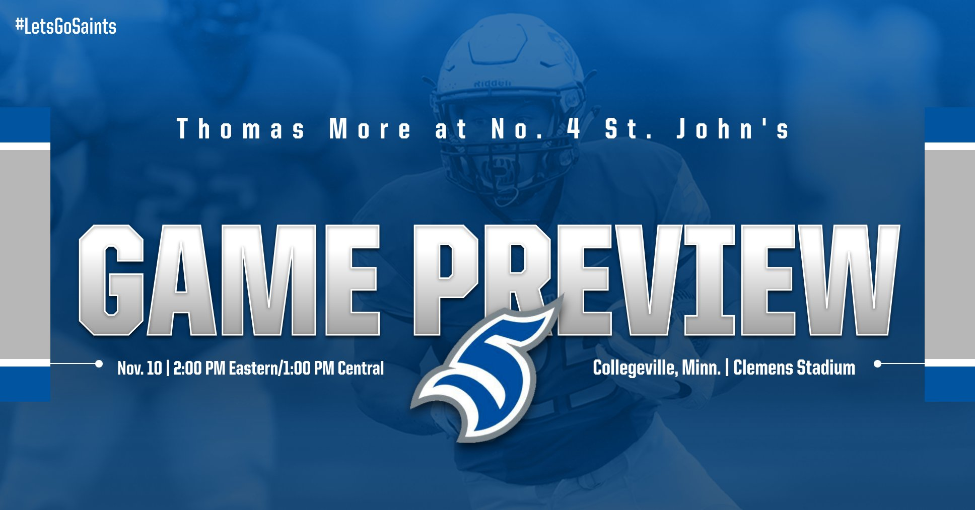 Football Takes on No. 4 St. John's in Regular Season Finale