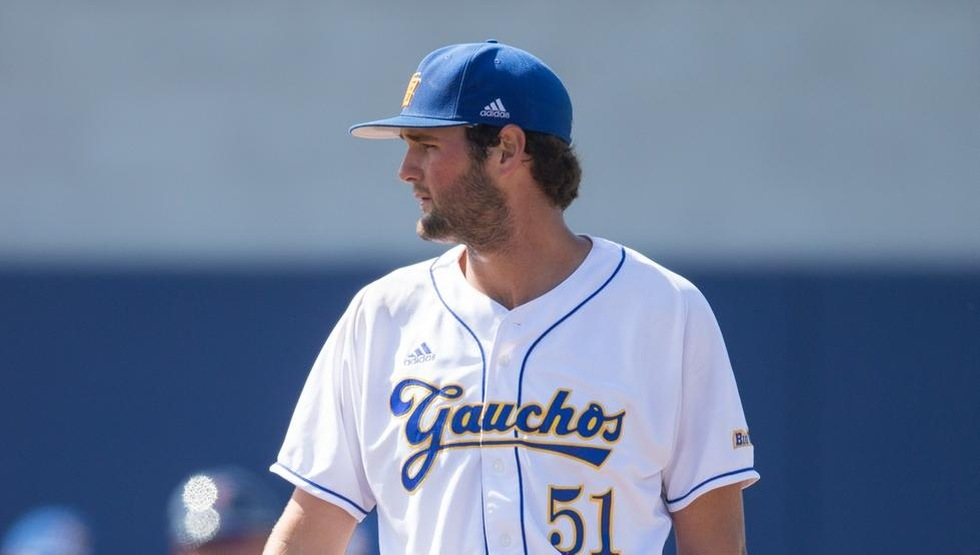 Jack Dashwood pitched a complete-game shutout against UC Davis on Friday afternoon. (Photo by Tony Masters)
