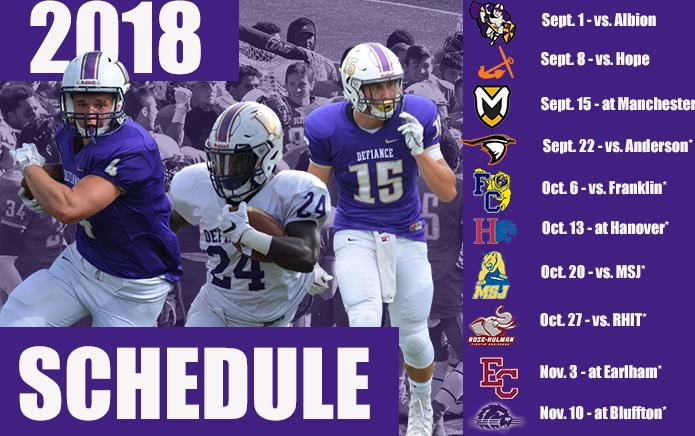 Football to Open 2018 Season with Albion