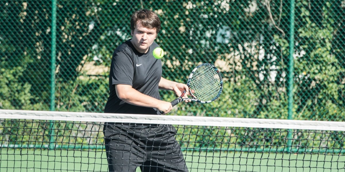 Joel Werner earns CUAA's lone point at #3 Doubles with Jacob Baxter