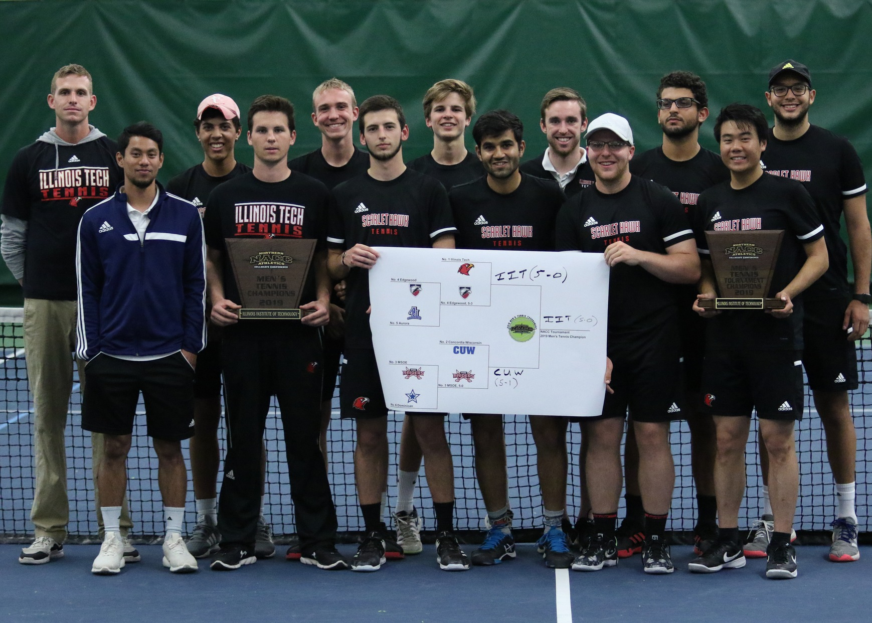 2019 NACC Men's Tennis Tournament champions -- Illinois Tech