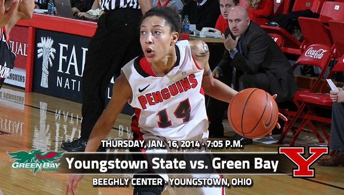 YSU Starts Four-Game Home Stand Thursday vs. Green Bay