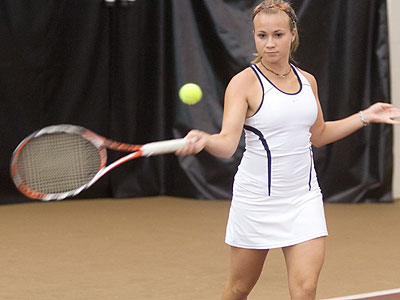 Bulldog junior Amy Ingle posted a 2-1 singles mark at the ITA Regionals