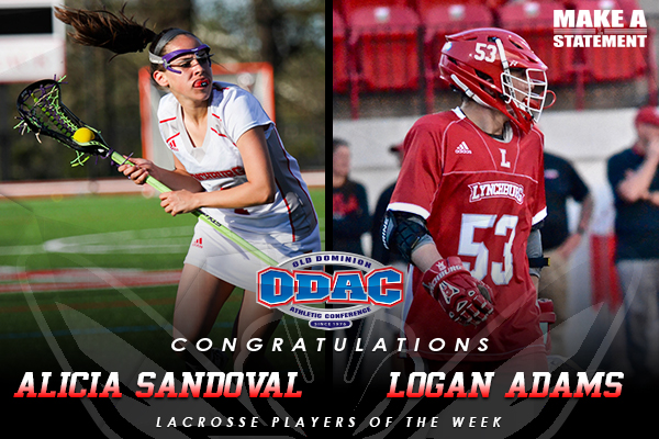 Sandoval and Adams named ODAC Lacrosse Players of the Week