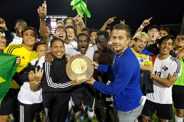 Ranger Men's Soccer wins Region V Tourney title
