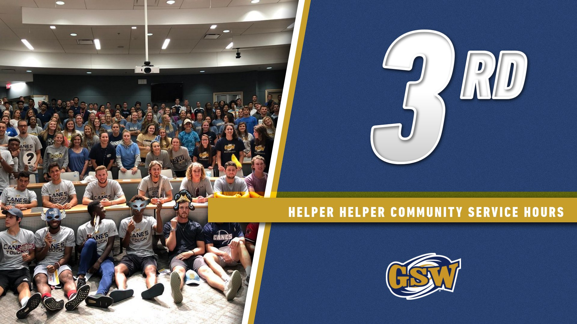 GSW Ranks 3rd in the Country in Community Service Hours