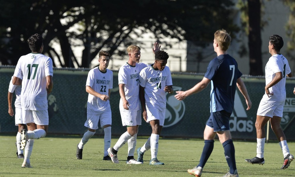MEN'S SOCCER SHUTS OUT SONOMA STATE IN PRESEASON EXHIBITION, WASHINGTON WITH BRACE IN 2-0 WIN