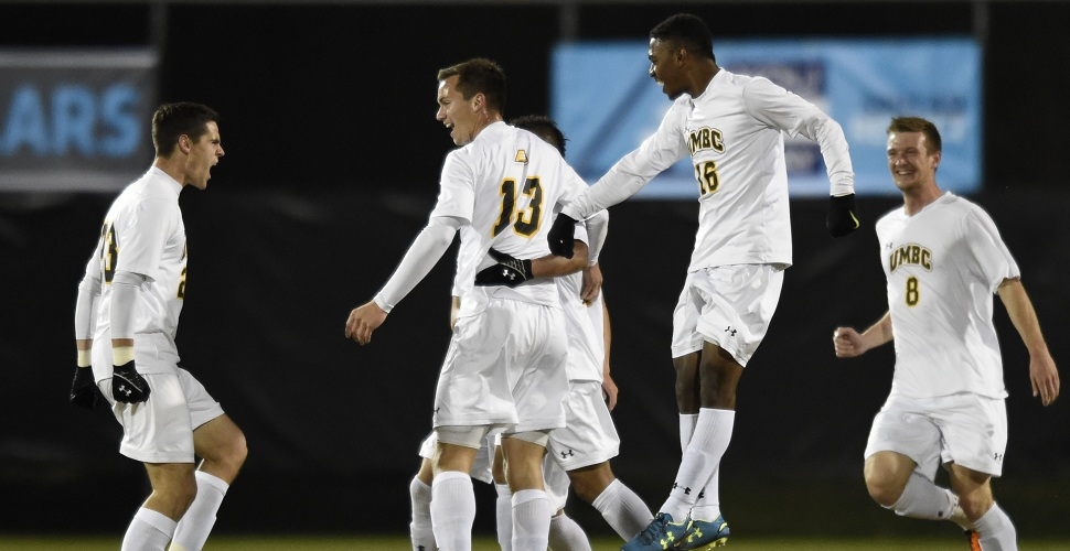 Men's Soccer Upends Vermont, 3-1, Will Host Hartford Saturday For America East Title