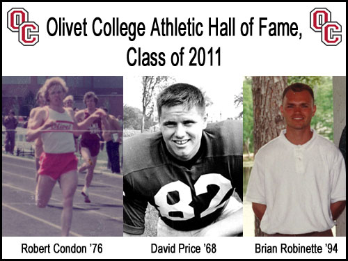Olivet College to induct three into Athletic Hall of Fame