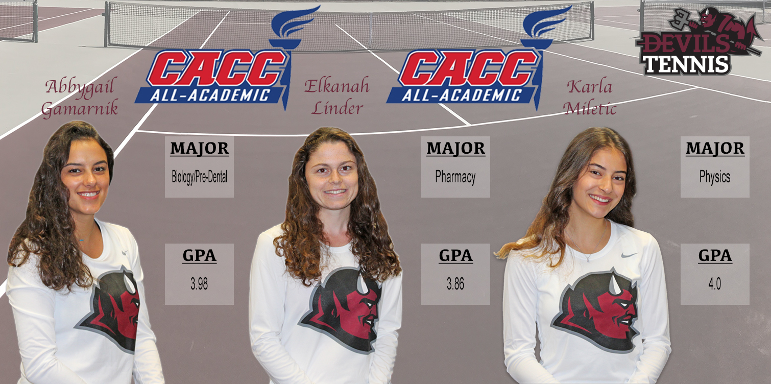 Three Devils Named to CACC Women's Tennis All-Academic Team